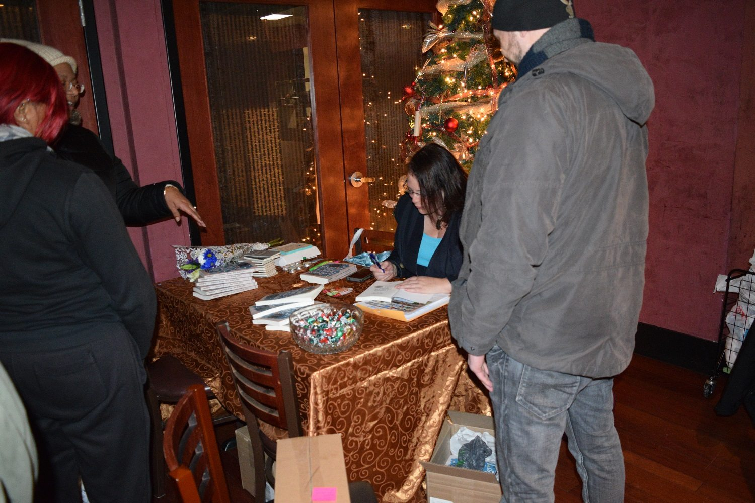 Signing a book - Just when you thought it was all over! Book Release Party! Thank you!