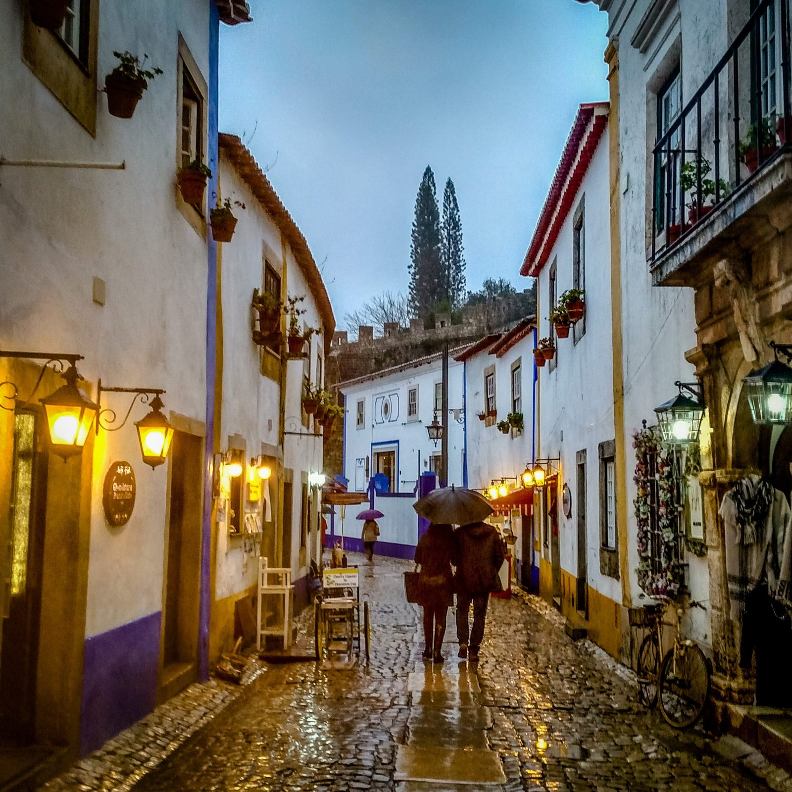 Cobbled street in Obidos