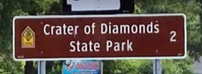 Brown Sign - Finding Treasure at Crater of Diamonds State Park